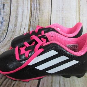 464b0b923 adidas Shoes | Kids 13 12 Youth Soccer Cleats Black Pink | Poshmark